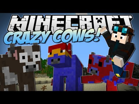 Minecraft   CRAZY COWS! (Flying Cows. Exploding Cows Ender Cows & More!)   Mod Showcase