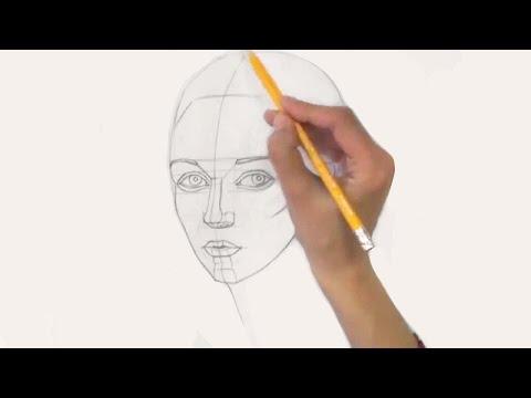 Видео как нарисовать портрет для начинающих