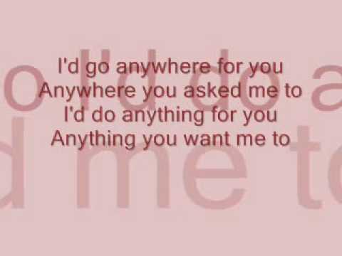 Anywhere for you with lyrics Back Street Boys