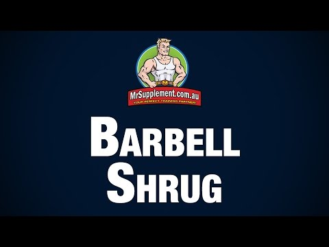 Barbell Shrug Exercise Image 1
