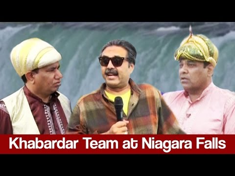 Khabardar Aftab Iqbal 29 January 2017 - Khabardar Team at Niagara Falls - Express News