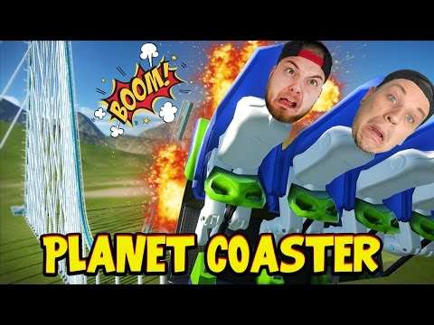 ROLLER COASTER CRASH DISASTER!! - Planet Coaster! #2 W/AshDubh!