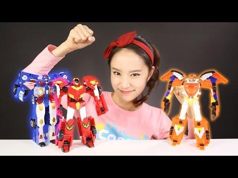 凱利的hello carbot 三劍俠變形金剛機器人玩具 |  凱利和玩具朋友們  CarrieAndToys