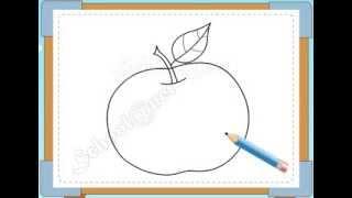 BÉ HỌA SĨ - Thực hành tập vẽ 123: Vẽ quả táo