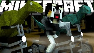 "Minecraft Dinosaurs | Jurassic Craft Modded Survival Ep 70! ""JURASSIC WORLD RAPTOR CAGE!"""