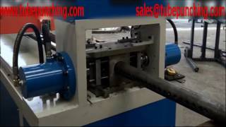 🅰Heavy Duty Steel Pipe Hole Punch Machine Hydraulic Drive CNC Control Automatic