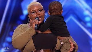 Mom Joined by Toddler Son Wows 'America's Got Talent' Judges