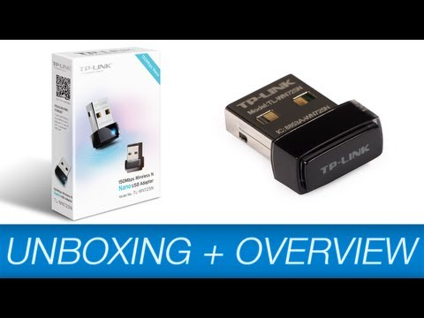 TP-Link TL-WN725N 150Mbps Wireless-N Nano USB Adapter {Unboxing & Overview]