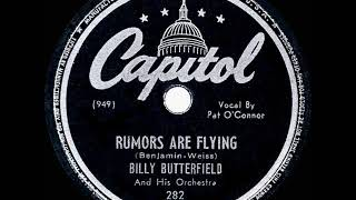 1946 HITS ARCHIVE: Rumors Are Flying - Billy Butterfield (Pat O'Connor, vocal)
