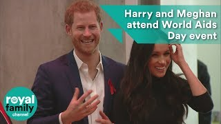Prince Harry and Meghan attend World Aids Day event