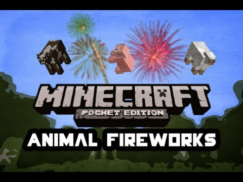 Animal Fireworks Glitch | Minecraft Pocket Edition | Tutorial