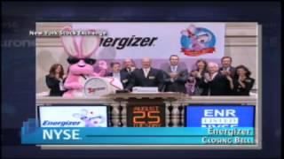 25 August 2009 NYSE Closing Bell Energizer Holdings Inc