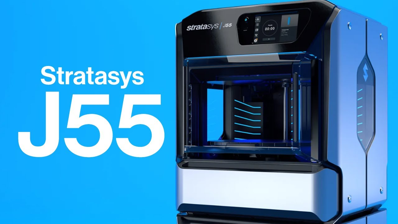 Stratasys J55 - The first office-friendly multi-colour 3D printer.