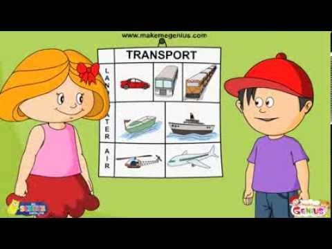 Transport  for kids -Means and Modes