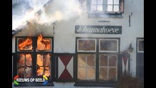 Grote brand GRIP 1 Restaurant Johannahoeve 's Gravenweg Capelle aan den IJssel