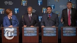 Rivals Target Bill de Blasio in New York Mayoral Debate  8/22/13