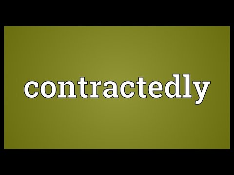 Header of contractedly