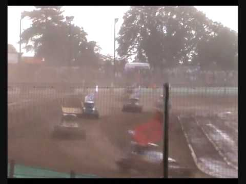 Brisca F1 Stock Car Racing Coventry 3-10-09 Final Wainman Jnr Wins Smith Harrison Johnson Shoot Out