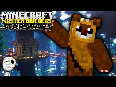Wer baut das beste Ewok Dorf?! 🤔 - Star Wars Master Builders! - Minecraft deutsch Gameplay