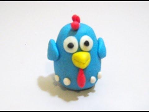 Como fazer a galinha pintadinha de massinha (stop motion)