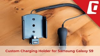 Samsung Galaxy S9 Custom Coiled Cord Cig Plug Charging Holder 712038