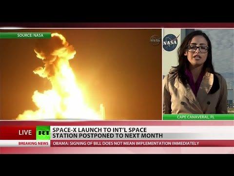 SpaceX scraps pivotal rocket launch