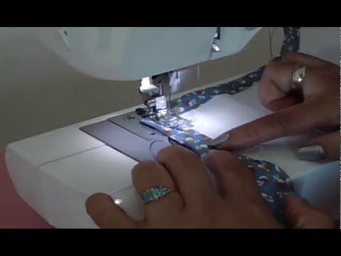 Como coser bies o sesgo  en esquina