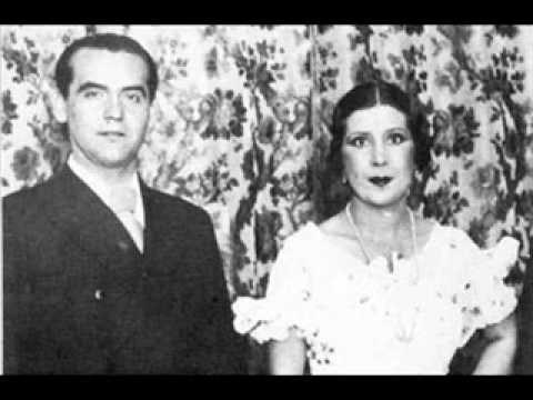 Federico García Lorca y La Argentinita - Nana de Sevilla - Grabación original en pizarra a 78 rpm