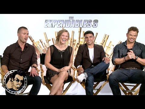 Kellan Lutz, Ronda Rousey, Victor Ortiz, Glen Powell interview - The Expendables 3 (HD) 2014