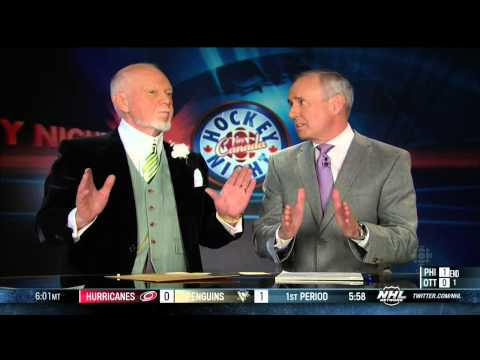 HNIC Coach's Corner Don Cherry & Ron MacLean April 27 2013 NHL. Hockey Night in Canada
