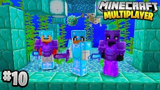 FIGHTING OCEAN MONUMENT in Minecraft Multiplayer Survival! (Episode 10)
