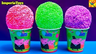 3 ICE CREAM Surprise Eggs!!! Mickey Mouse Peppa Pig Kinder Surprise Angry Birds