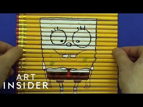 Fan Art Created On Top Of Pencils