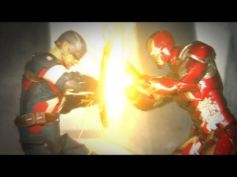 Captain America: Civil War Final Battle (Stop Motion)