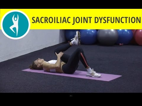 0 Stretching exercises for sciatic pain from sacroiliac joint dysfunction: single knee chest stretch