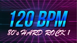 120 BPM - 80's Hard Rock - 4/4 Drum Track - Metronome - Drum Beat