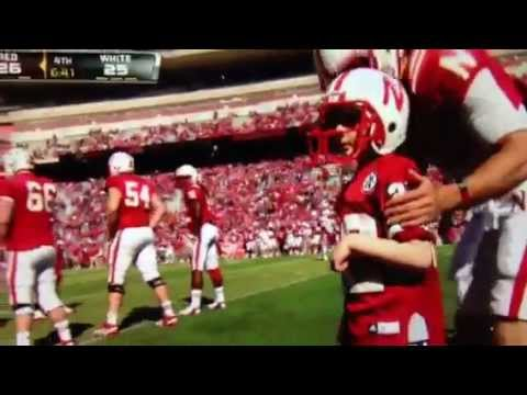 Team Jack Hoffman runs for a touchdown Nebraska Huskers