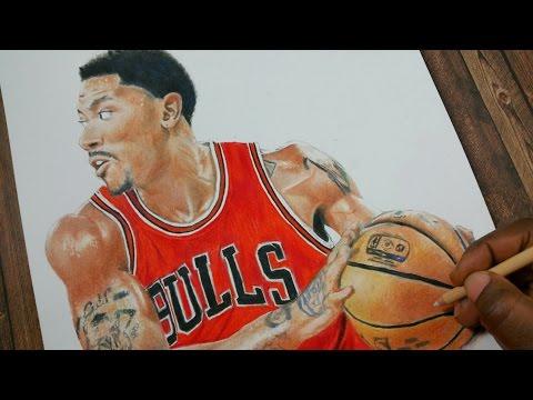 Drawing Derrick Rose  - Chicago Bulls