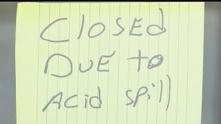 Businesses impacted by chemical spill
