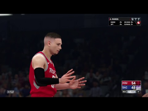 Playing NBA 2k18/last season game