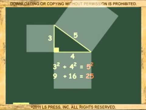 el teorema de pitagoras video animado youtube