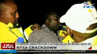 15 drivers arrested for flouting rules on Nkubu-Meru road