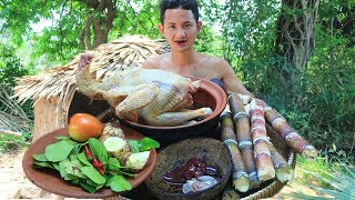 Primitive Technology: Catch and Cook Chicken Recipes