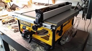 My Review The Portable Dewalt Tablesaw Model Dwe