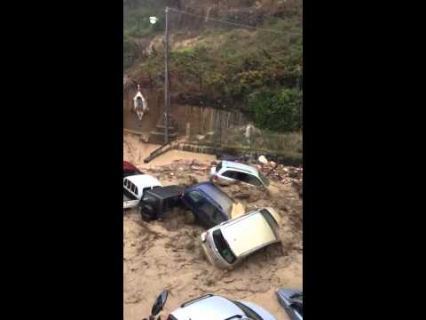 Vehicles Washed out to Sea!! - Cinque Terre Vernazza, Italy