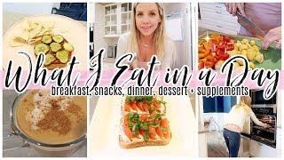 WHAT I EAT IN A DAY // COOK WITH ME BREAKFAST, LUNCH, DINNER, DESSERT // TIFFANI BEASTON HOMEMAKING