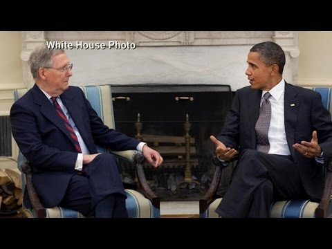 President Obama and Sen. Mitch McConnell  Meet Face-to-Face