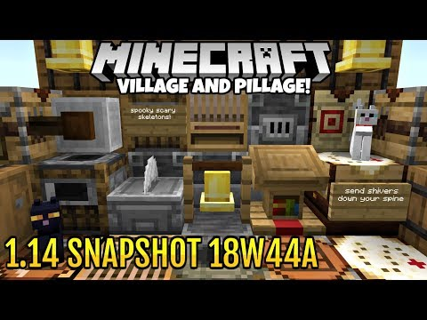 Minecraft 1.14 Snapshot 18w44a New Cats, LOTS Of New Crafting Blocks, And Colored Sign Text!