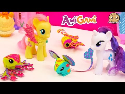 AmiGami Simple Fun Easy Do It Yourself Pop Out Style Craft Animals Toy Review Video