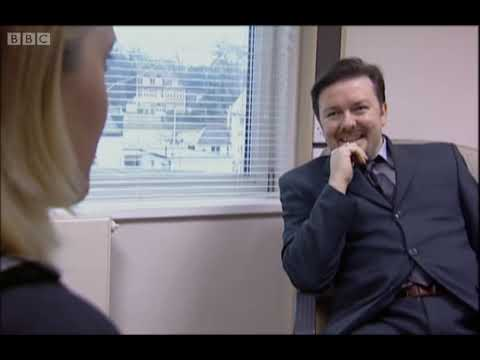 Most Awkward Interview Ever - David Brent - The Office - BBC